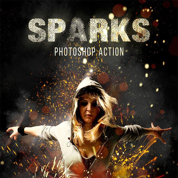 Sparks Photoshop Action