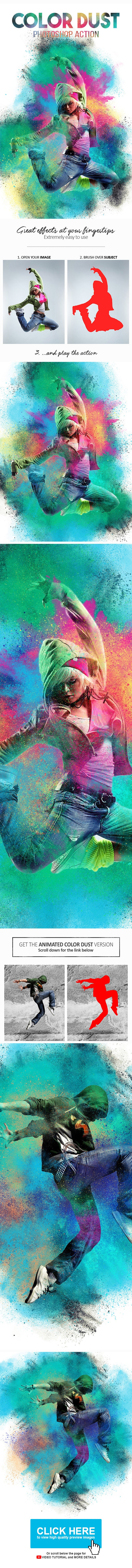 Color Dust Photoshop Action - Photo Effects Actions