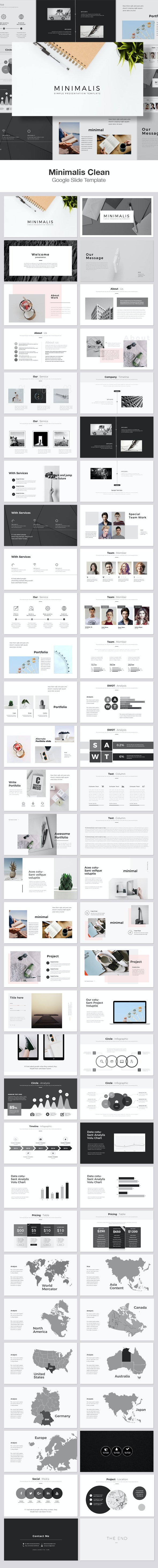 Minimalis Google Slide Template - Google Slides Presentation Templates