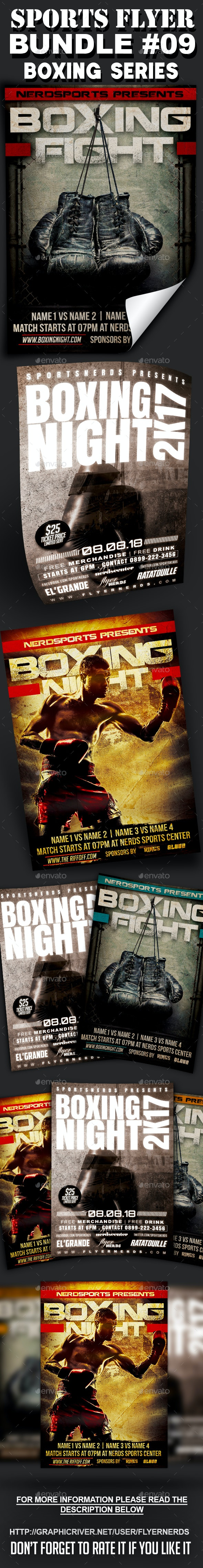Sports Flyer Bundle 09 Boxing Series - Sports Events