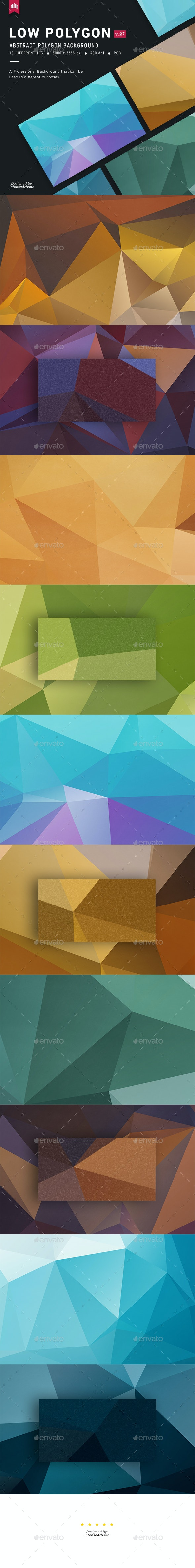Minimal Polygon Background V.27 - Abstract Backgrounds