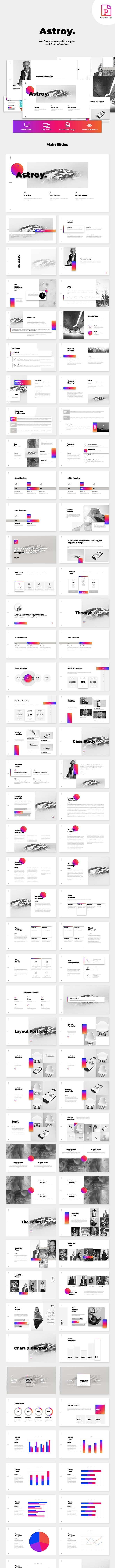 Astroy - Business PowerPoint Template - Business PowerPoint Templates