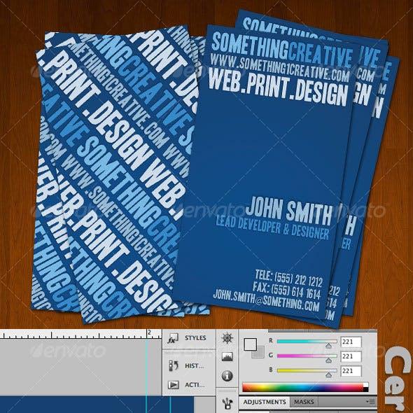 Bluish Creative Designers Business Card