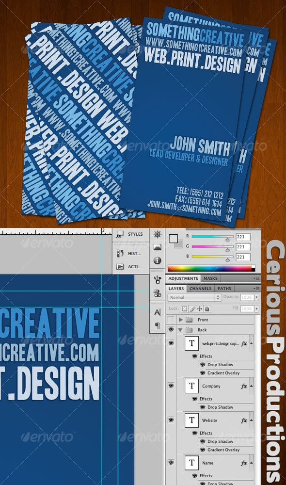 Bluish Creative Designers Business Card - Creative Business Cards