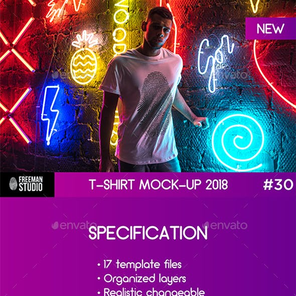 T-Shirt Mock-Up 2018 #30