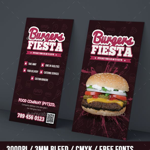 Grunge Restaurant Business Card Template
