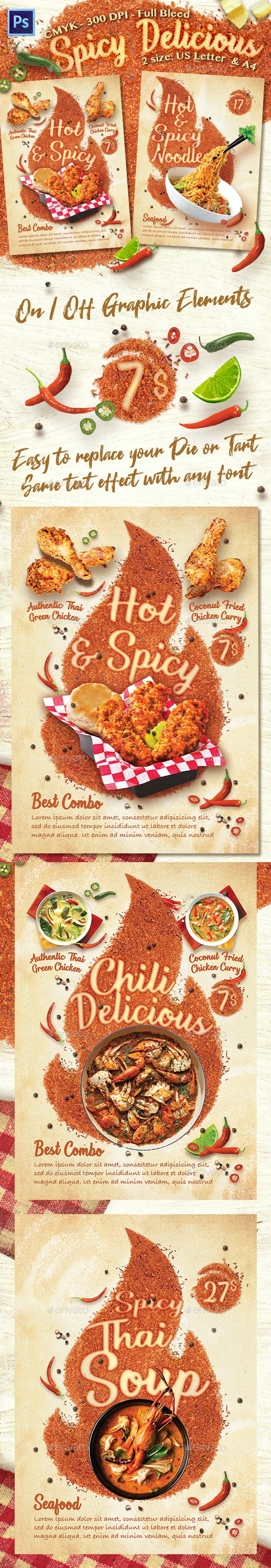 Hot Spicy Food Flyer Template - Flyers Print Templates