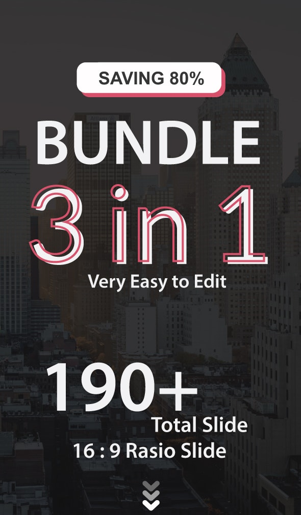 Bundle 3 in 1 PowerPoint - Creative PowerPoint Templates