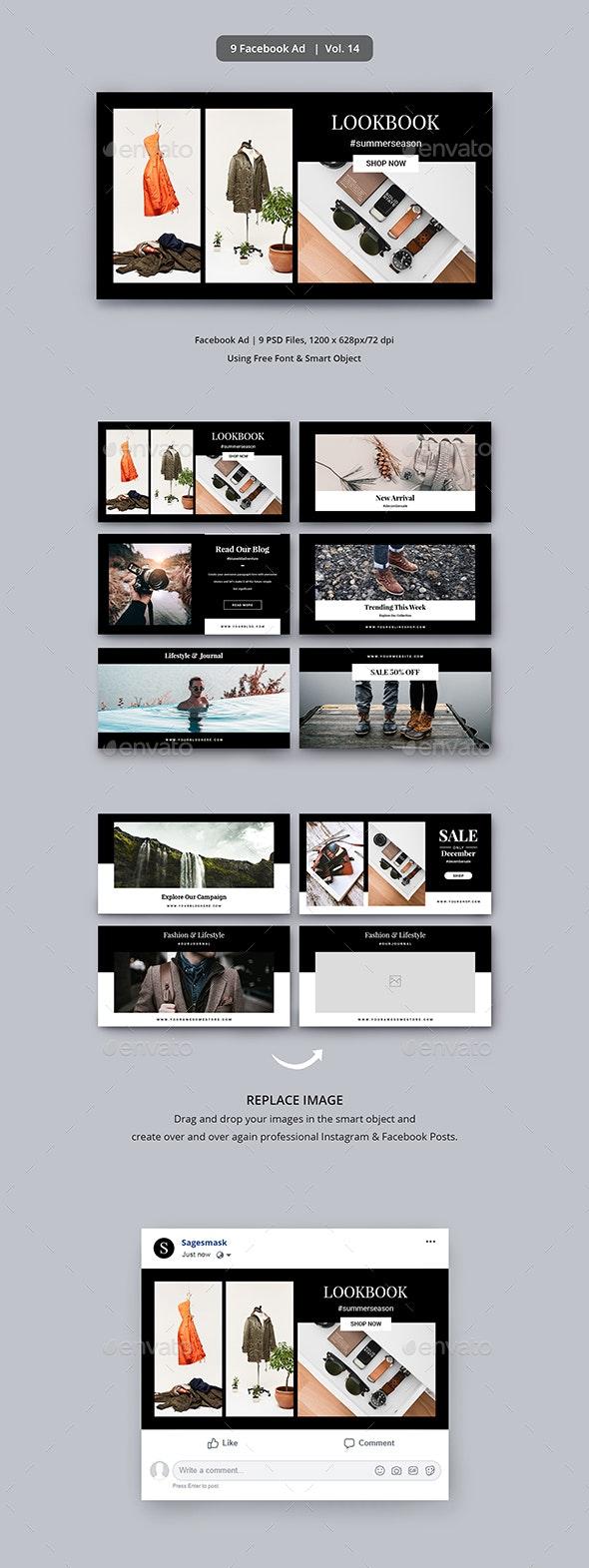 Facebook Ad Vol. 14 - Social Media Web Elements