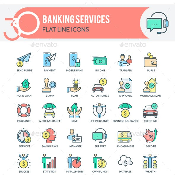 Banking Services Icons