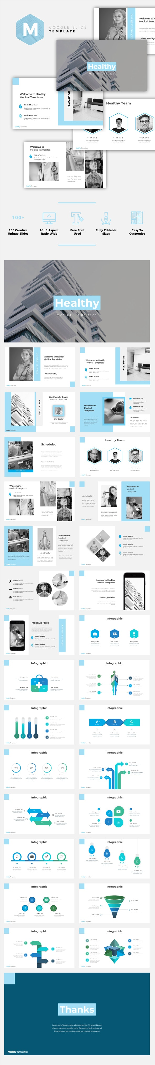 Healthy - Medical Google Slides Template - Google Slides Presentation Templates