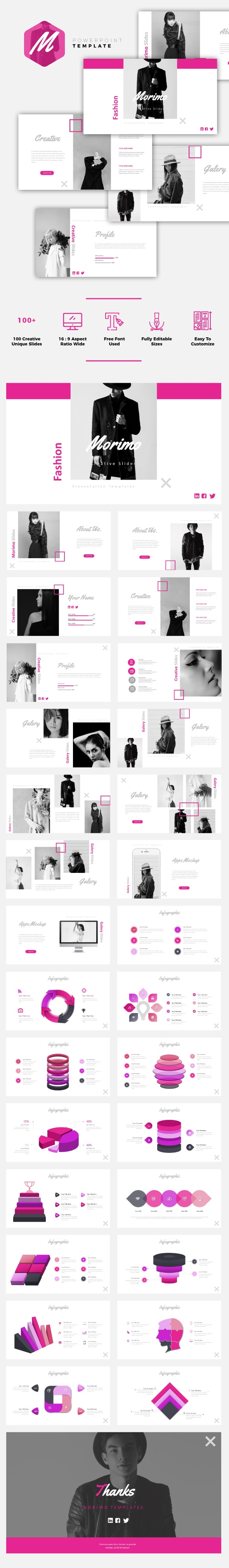 Morimo - Fashion Powerpoint Template - Business PowerPoint Templates