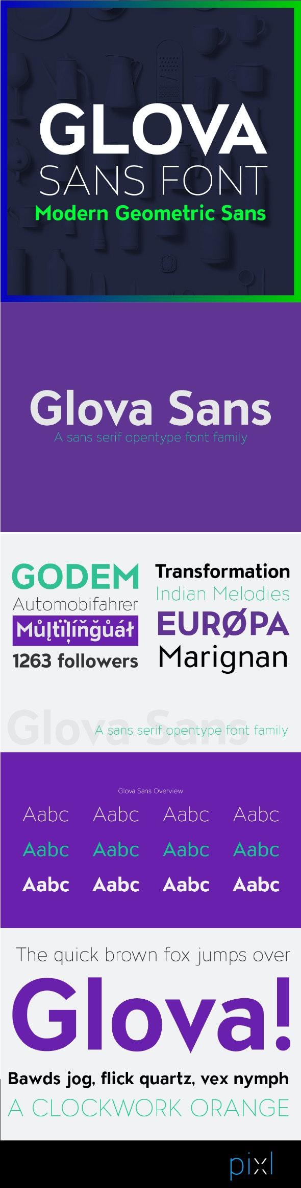 Glova Sans Font - Miscellaneous Sans-Serif