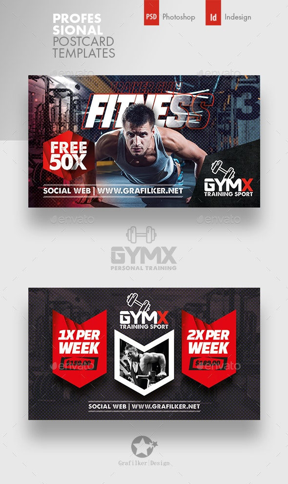 Fitness Trainer Business Card Templates - Corporate Business Cards