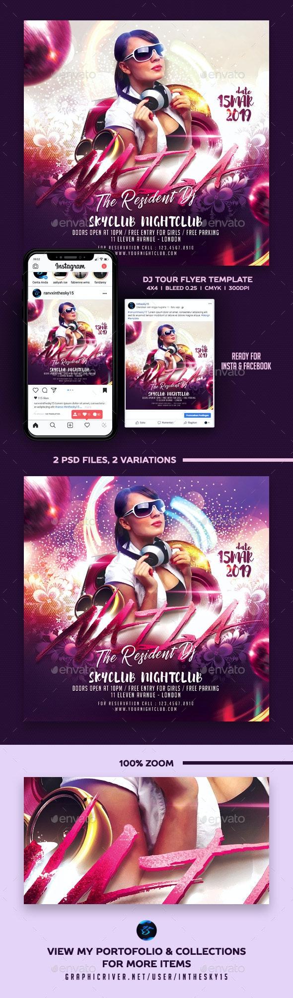 DJ Tour Flyer - Clubs & Parties Events