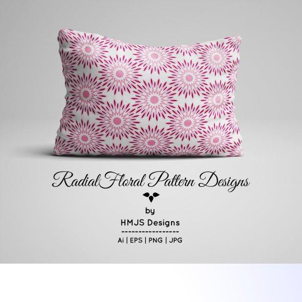 Radial Floral Pattern Designs