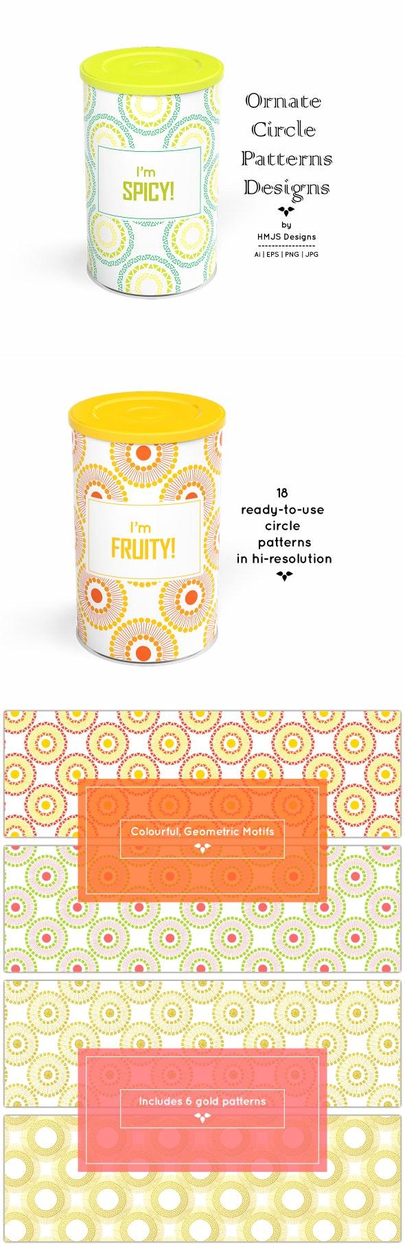 Ornate Circle Pattern Designs - Textures / Fills / Patterns Illustrator
