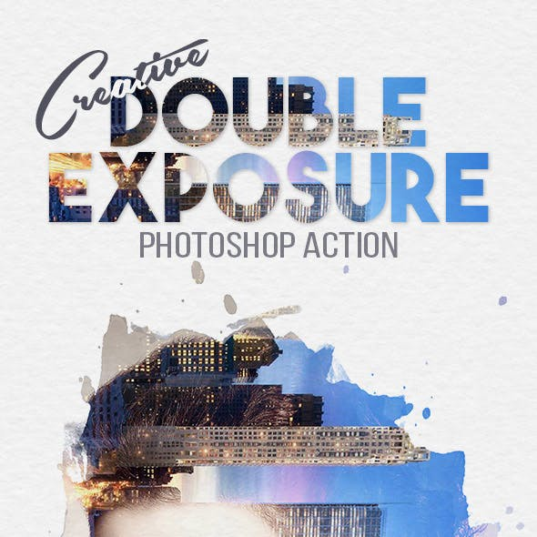 Creative Double Exposure Photoshop Action