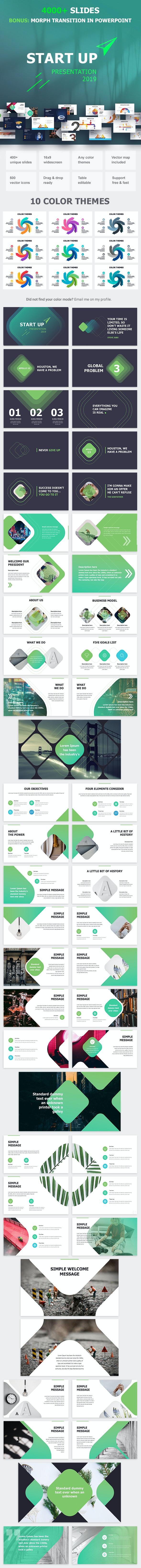 Start Up Google Slides - Google Slides Presentation Templates