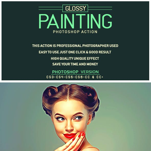 Glossy Painting Photoshop Action