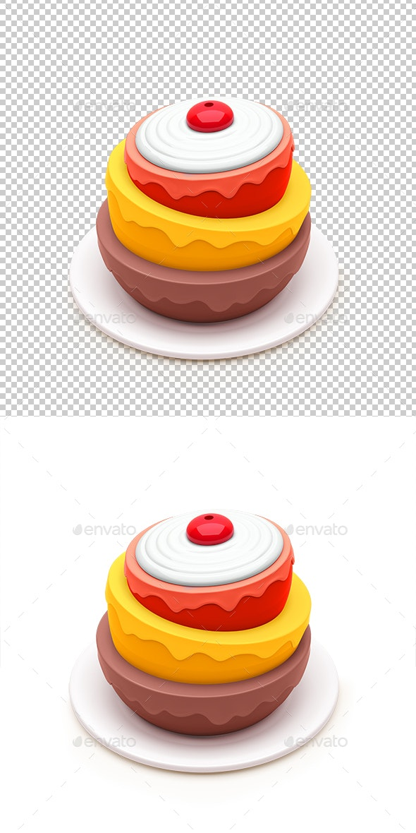 Birthday Cake - Objects 3D Renders