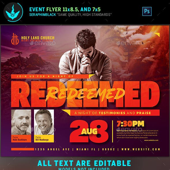 Redeemed Revival Church Flyer Template