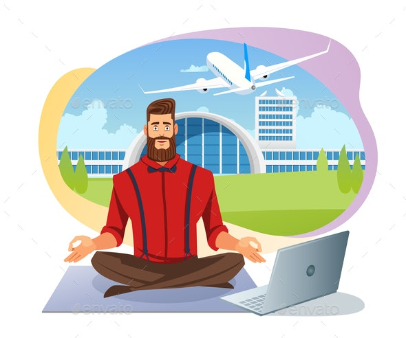 Easy Airline Tickets Booking Flat Vector Concept - Business Conceptual