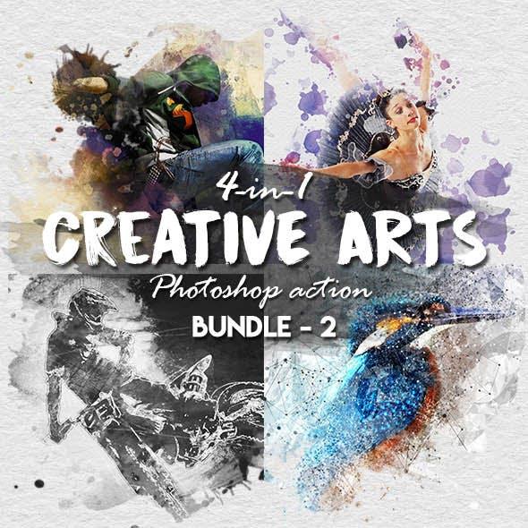 Creative Arts Photoshop Action Bundle v2