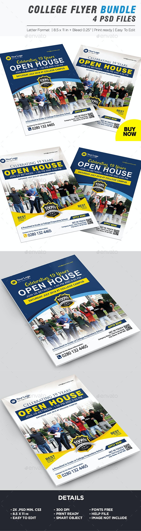 College Fair Flyer Bundle - Corporate Flyers