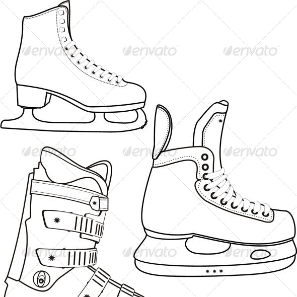 Contour of the sports boots