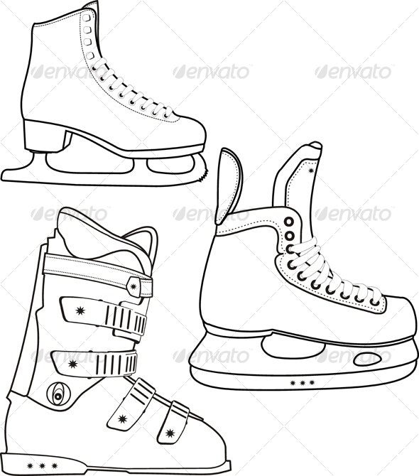 Contour of the sports boots - Sports/Activity Conceptual