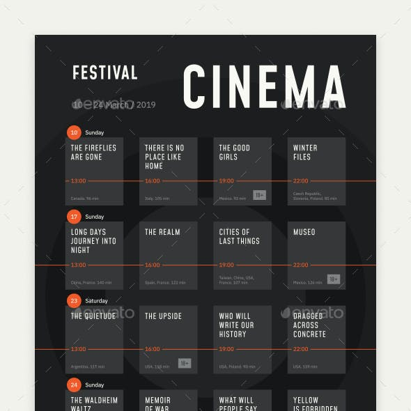 Film Festival Schedule Poster