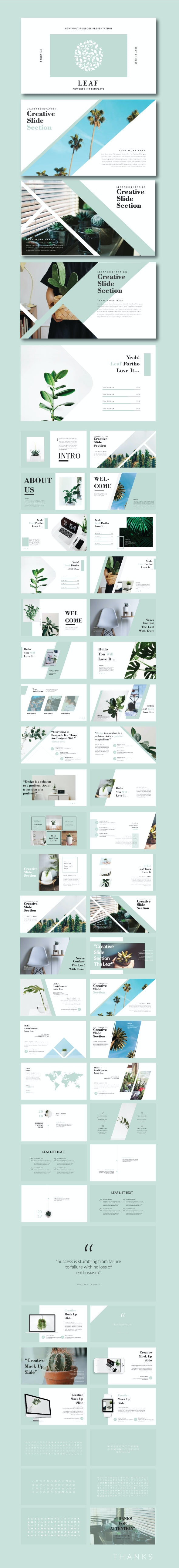 Leaf Powerpoint Template - Business PowerPoint Templates