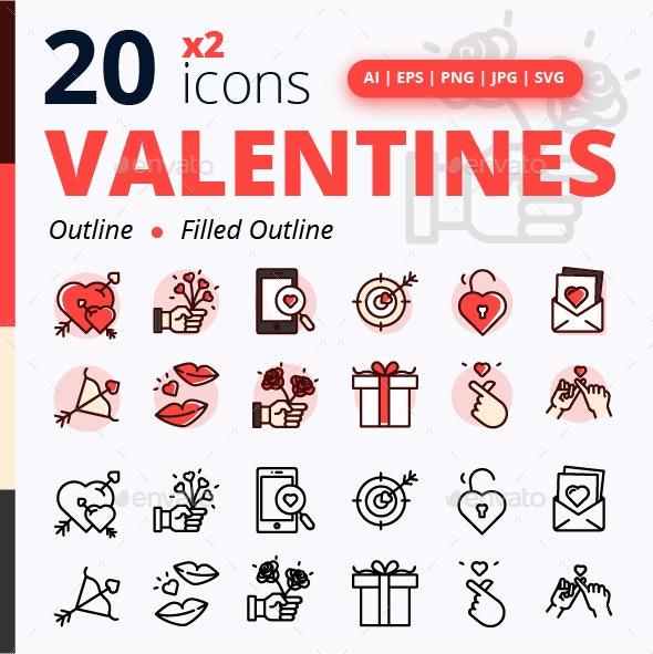 Set of Valentines - Seasonal Icons