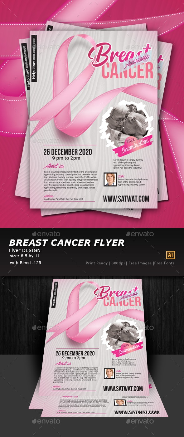 Breast Cancer Awareness Flyer Template - Flyers Print Templates
