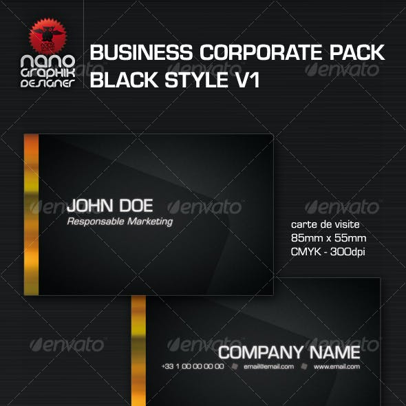 business corporate pack black style v1