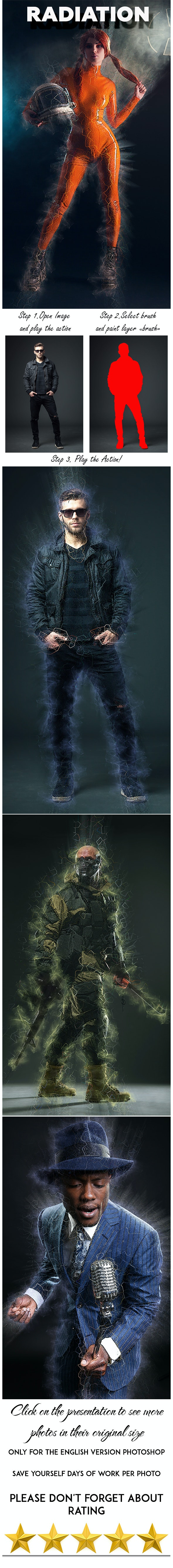 Radiation Photoshop Action - Photo Effects Actions