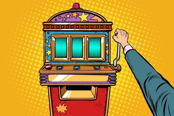 One-Armed Bandit Slot Machine - Business Conceptual