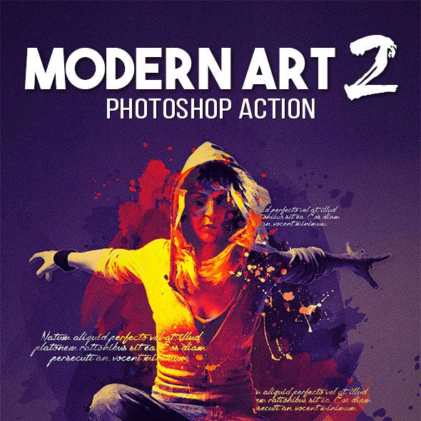Modern Art 2 Photoshop Action