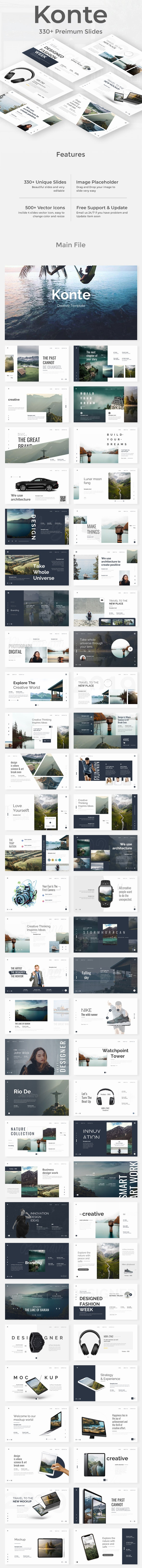 Konte Premium Powerpoint Template - Creative PowerPoint Templates