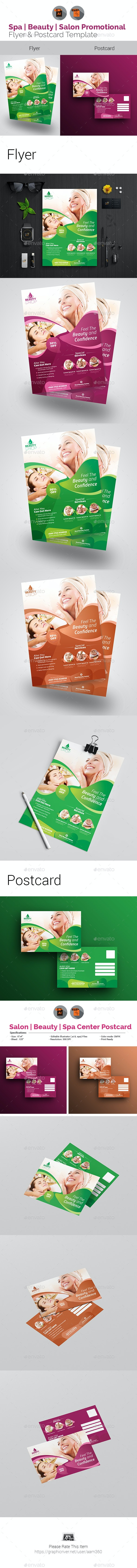 Beauty Care Flyer with Postcard Bundle - Corporate Flyers