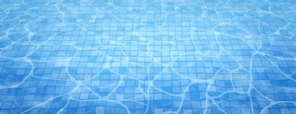 Swimming Pool Bottom Caustics Ripple and Flow - Miscellaneous Vectors