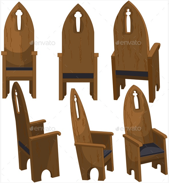 Cathedral Church Chairs - Man-made Objects Objects