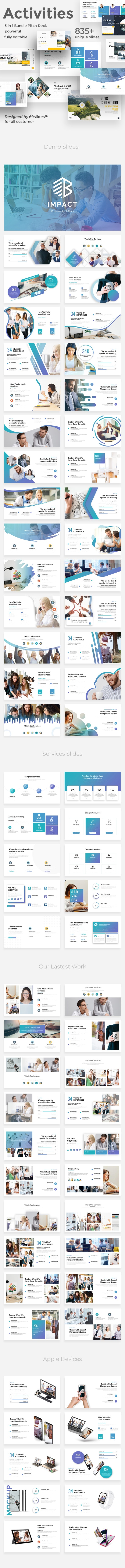 Key Activities 3 in 1 Pitch Deck Bundle Powerpoint Template - Creative PowerPoint Templates