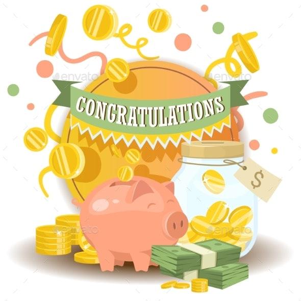 Money Vector Piggy Bank - Concepts Business
