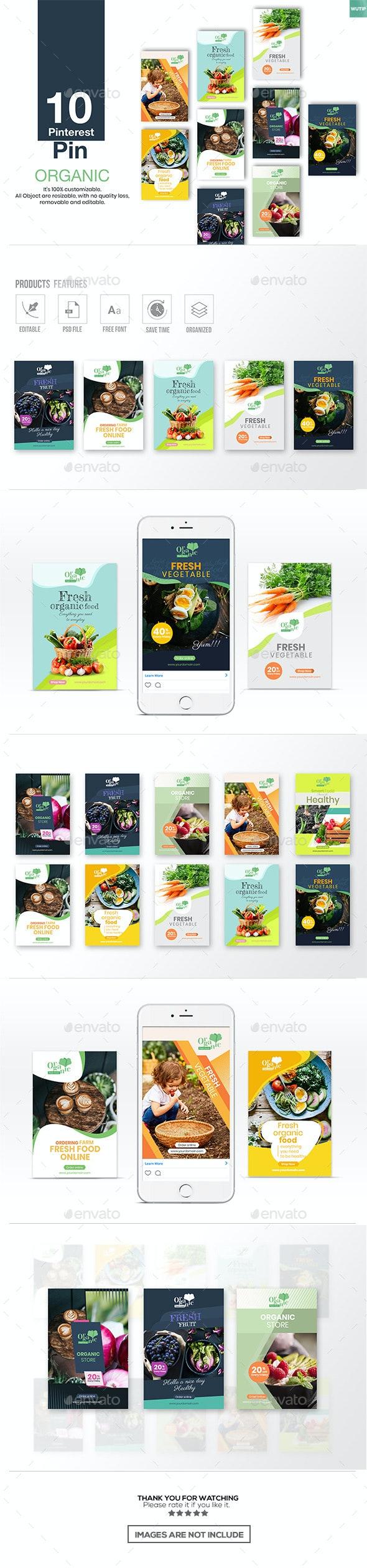 10 Pinterest Pin Banner - Organic - Miscellaneous Social Media