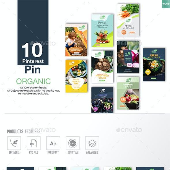 10 Pinterest Pin Banner - Organic