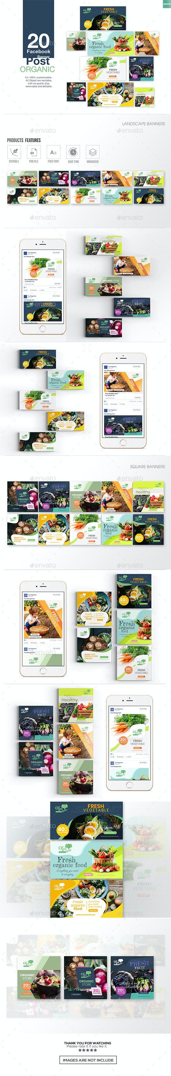 20 Facebook Post Banner - Organic - Miscellaneous Social Media