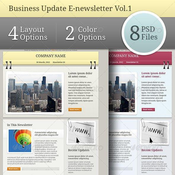 Business Update E-newsletter Vol.01