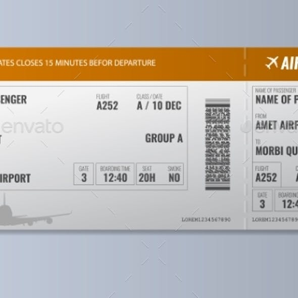 Airline Boarding Pass or Air Ticket Design